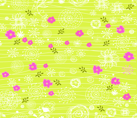 Peaceful Gardens fabric by deeniespoonflower on Spoonflower - custom fabric
