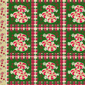 Peppermint Christmas Napkins 12 inch