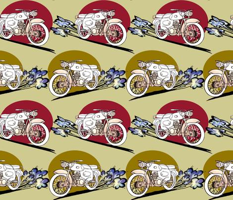 gobike fabric by riztyd on Spoonflower - custom fabric