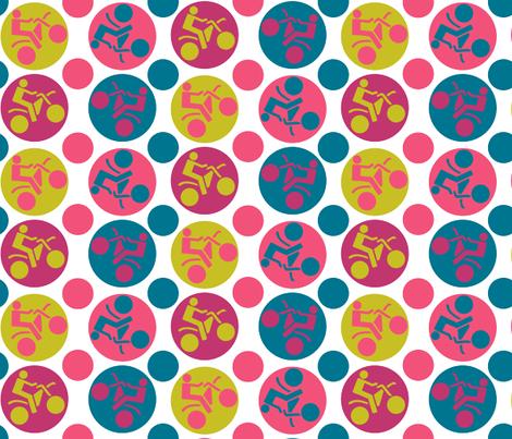 motorbikes3 fabric by jlwillustration on Spoonflower - custom fabric