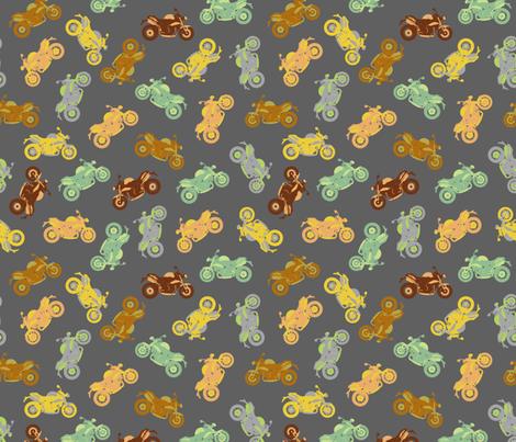 Motorbike Medley - small fabric by uzumakijo on Spoonflower - custom fabric