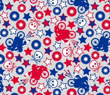 daredevil - navy & red fabric by cheyanne_sammons on Spoonflower - custom fabric
