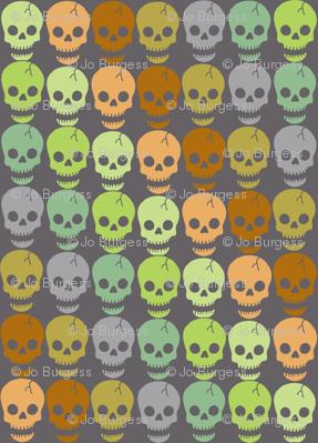 Happy Skulls - diagonal small