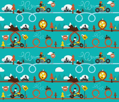 Biker_Birds fabric by lien_geeroms on Spoonflower - custom fabric