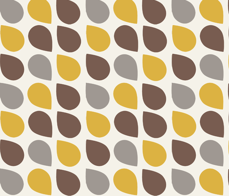 retro drop brown fabric by myracle on Spoonflower - custom fabric