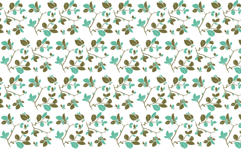 Blooming (green turquois) fabric by biancagreen on Spoonflower - custom fabric