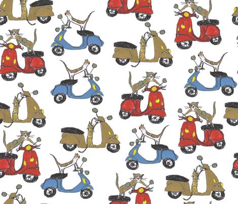 ciao_kitties_ fabric by cinqchats on Spoonflower - custom fabric