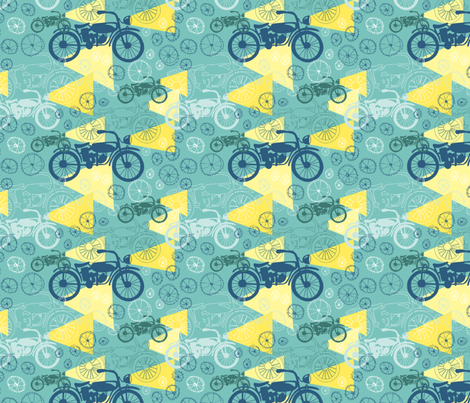 Bikes and LIghts fabric by lonih on Spoonflower - custom fabric