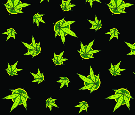 Marijuana Weed Pattern fabric by caitoniansoldier on Spoonflower - custom fabric