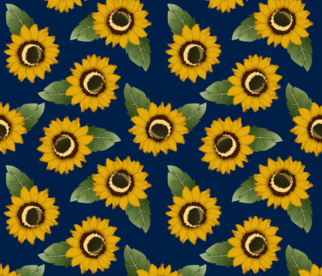 summer sunflowers fabric by annaboo on Spoonflower - custom fabric