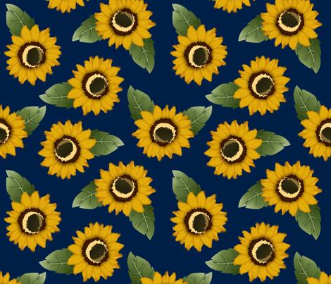 summer sunflowers fabric by annaboo on Spoonflower - custom fabric