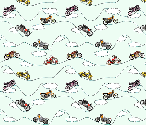 Freedom motorcycles fabric by lucybaribeau on Spoonflower - custom fabric