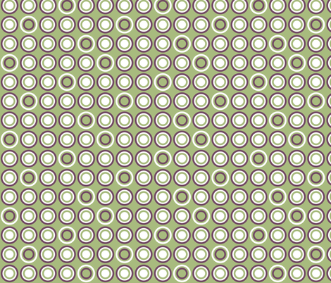 Dots In Rows Green fabric by ghennah on Spoonflower - custom fabric