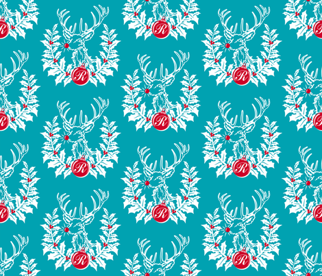 """R is for Rudolph""... fabric by retrorudolphs on Spoonflower - custom fabric"