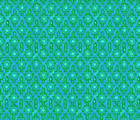 Marakesh green/blue fabric by ispy on Spoonflower - custom fabric