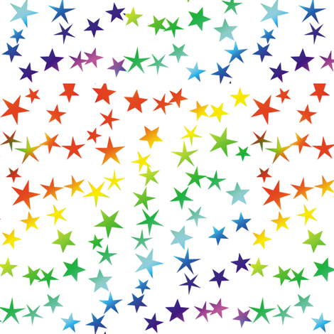 Rainbow Stars 2 fabric by animotaxis on Spoonflower - custom fabric