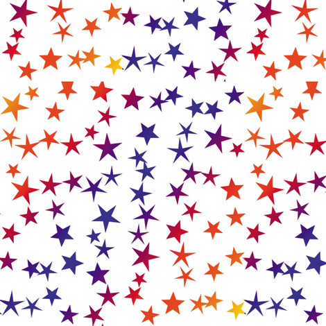 Red Blue Stars fabric by animotaxis on Spoonflower - custom fabric