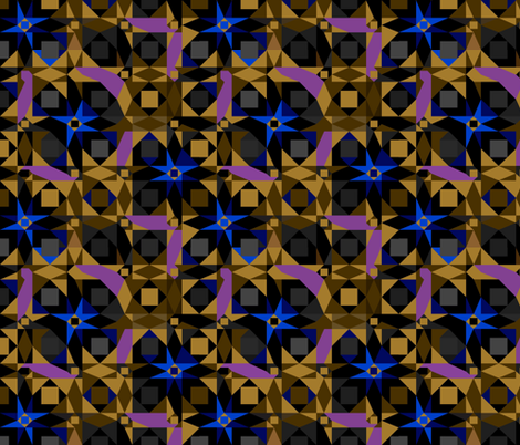 Bleu star fabric by alfabesi on Spoonflower - custom fabric