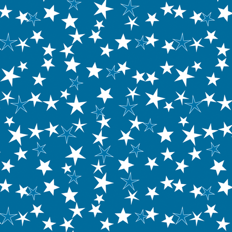 Simple Stars 12 fabric by animotaxis on Spoonflower - custom fabric