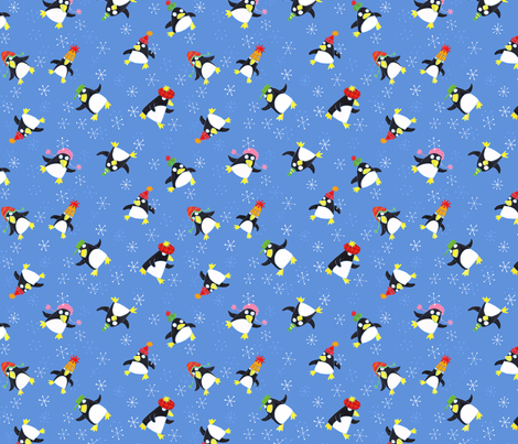 JoBrownPenguinParty fabric by happytomato on Spoonflower - custom fabric