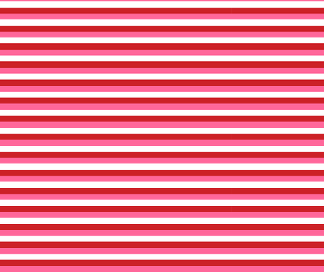 Small Stripes - Red, Pink and White fabric by little_fish on Spoonflower - custom fabric