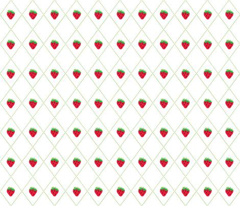 Strawberry Argyle fabric by kfay on Spoonflower - custom fabric