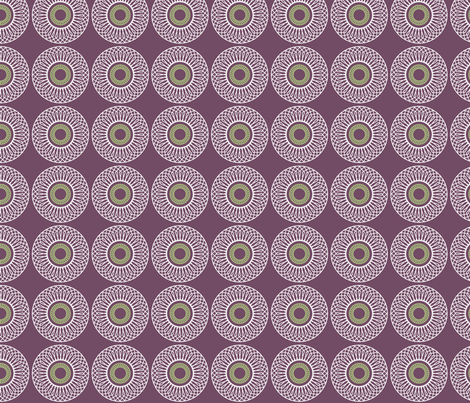 Circles and hexagons fabric by ebygomm on Spoonflower - custom fabric