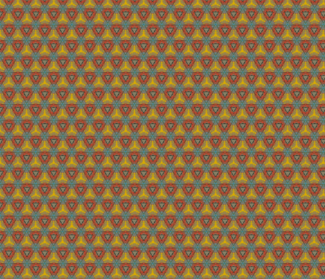 Vintage Triangles fabric by anniedeb on Spoonflower - custom fabric