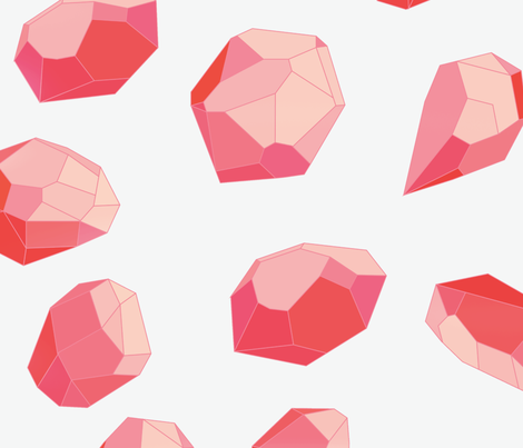 Red Gem fabric by janelle_wooten on Spoonflower - custom fabric