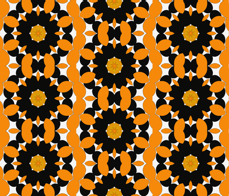Snakey Orange and Black Star fabric by anniedeb on Spoonflower - custom fabric
