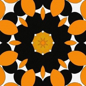 Snakey Orange and Black Star