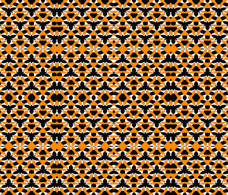 Black Bees fabric by anniedeb on Spoonflower - custom fabric