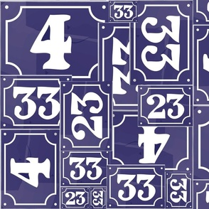 French Number Plaques
