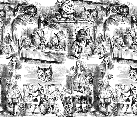 Curiouser and curiouser!  An Alice Toile fabric by peacoquettedesigns on Spoonflower - custom fabric