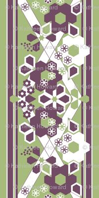 Geometric Flower Border Stripe_1d