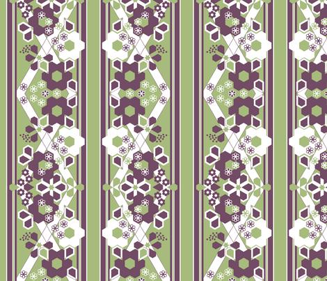 Geometric Flower Border Stripe_1d fabric by khowardquilts on Spoonflower - custom fabric