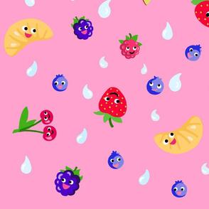 Happy Fruit Pink XL