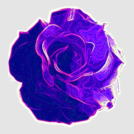 big violet rose fabric by keweenawchris on Spoonflower - custom fabric