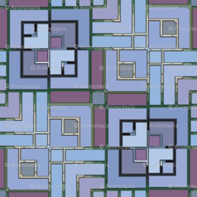 Metalic Square Mosaic 2