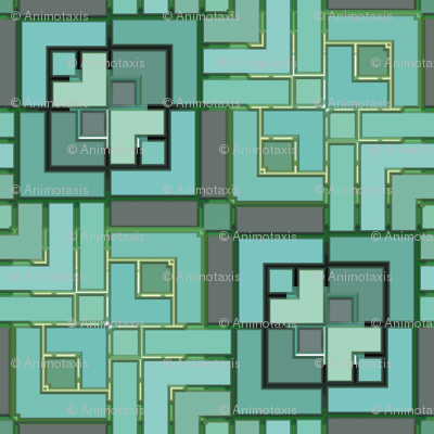 Metalic Square Mosaic 3