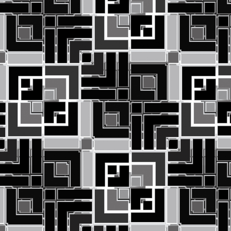 Metallic Square Mosaic 4 fabric by animotaxis on Spoonflower - custom fabric