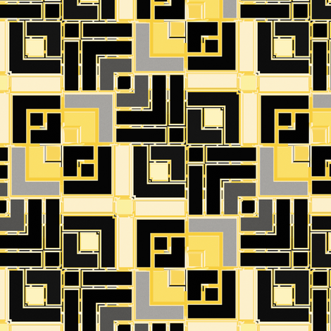Metallic Square Mosaic 8 fabric by animotaxis on Spoonflower - custom fabric