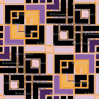 Metallic Square Mosaic 9