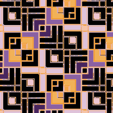Metallic Square Mosaic 9 fabric by animotaxis on Spoonflower - custom fabric