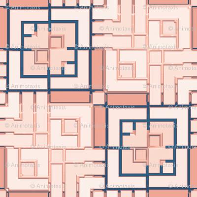 Metallic Square Mosaic 12