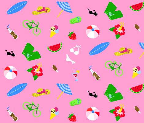 Summertime Pink XL fabric by johanna_lange_designs on Spoonflower - custom fabric