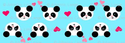 Panda Love Blue XL