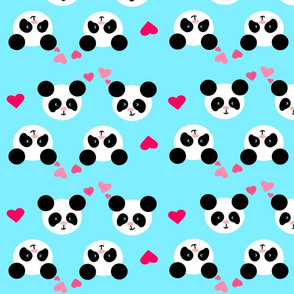 Panda Love Blue XL