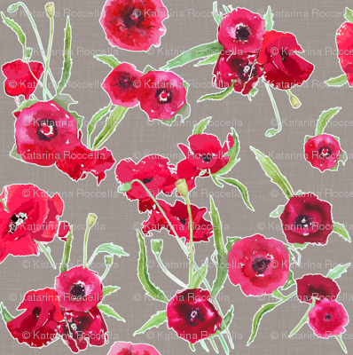 poppy grey canvas linen textured background
