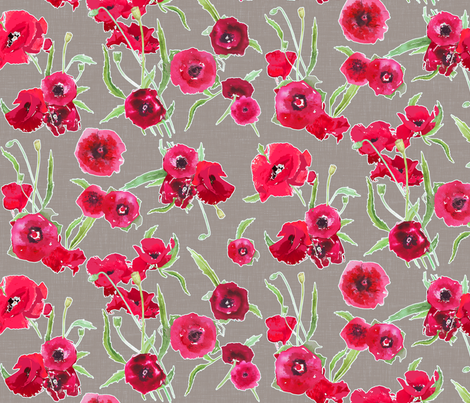 poppy grey canvas linen textured background fabric by katarina on Spoonflower - custom fabric
